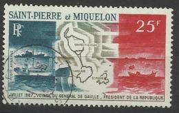 SAINT PIERRE ET MIQUELON N° PA 38 Oblitéré SPM POSTE AERIENNE - Airmail
