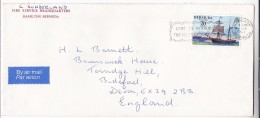 1977 Air Mail BERMUDA Stamps COVER From FIRE SERVICE HQ Firemen Firefighting - Firemen