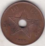 CONGO BELGE. 10 CENTIMES 1888. LEOPOLD II - Congo (Belgian) & Ruanda-Urundi