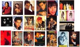Artistes - Chanteurs - Groupe - Acteurs - Années 80 - LOT De 25 CPM + 1 Carnet Roch Voisine 8 Vues  - Toutes Scannées - Entertainment