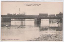 CPA - 95 - Les Inondations De L'Oise, Janvier 1910 - PONTOISE - Quai Du Port - Pontoise