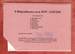 P 107, Komplette Lieferung D1/1 Bis D1/8 = 8 Bildpostkarten, Orte Siehe Beschreibung, Ungebraucht (33276) - Cartoline Illustrate - Nuovi