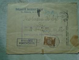 D141991 Hungary Budapest IX Ker -1954  - PORTO  - - Postage Due