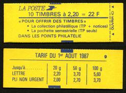 FRANCE - CARNET YT 2376-C5 - FERME - DATE - Confectionneuse 9 - Carnets