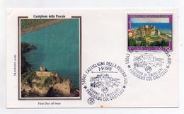 Italia - 1988- Busta FDC -SERIE TURISTICA - Castiglione Della Pescaia (GR) - Con Doppio Annullo Filatelico - (FDC1382) - F.D.C.