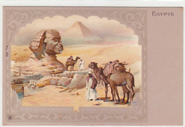 Egypte - Jugendstil-Litho      (161101) - Sphinx