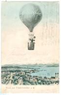 1905 Germany Gruss Aus Friedrichshafen Pc Hot Air Balloon Over Town. Used (Hasenweiler?) To Villingen - Friedrichshafen