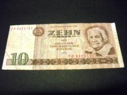 ALLEMAGNE 10 Mark 1971, Pick N° 28 B , GERMANY, RDA,DDR,deutschen Demokratischen Republik - [ 6] 1949-1990 : GDR - German Dem. Rep.