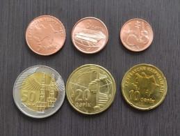 Azerbaijan 1+3+5+10+20+50 Qəpik Set 6 Coins UNC CURRENCY - Azerbaiyán
