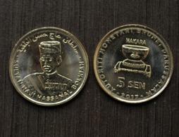 Brunei Set 5 Coins,1;5;10;20; 50 Sen, UNC, Asia Coin - Brunei