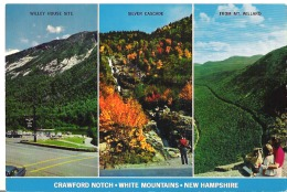 """Crawford Notch, White Mountains, New Hampshire Rugged Mount Webster, Silver Cascade   9"""" X 6""""    22.5 Cm X 15 Cm - White Mountains"""