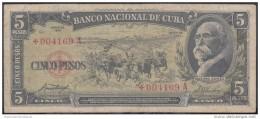 1958-BK-151  CUBA 1958. *REEMPLAZO REPLACEMENT. 5$ MAXIMO GOMEZ. - Cuba