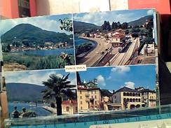 PONTE TRESA VEDUTE E STAZIONE FERROVIARIA CON TRENO TRAIN   V1970  FS7152 - Varese