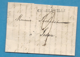 Ardennes - Charleville Pour Sedan - LAC De 1827 - Postmark Collection (Covers)