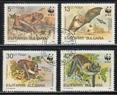 BULGARIA \ BULGARIE - 1989 -WWF - Protection De La Nature - Chauves-souris - 4v  Obl. - Bats