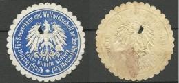 Deutschland Keiserreich Sehr Alte Siegelmarke Loch In Der Mitte! Defect! - Germania
