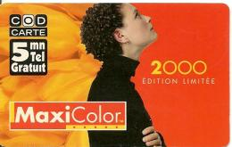 CODECARD-FT-5MN-MAXICOLOR-2000-01/01/2000 A 31/12/2000-17000ex-T BE - France