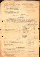 Germany Grevenbroich 1952 / Tax / Steuer, Steuerbeleg / Grunderwerbsteuerbescheid / Dusseldorf Oberfinanzdirektion - Germany