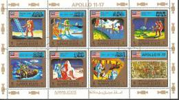 Ajman 1973 Mi# 2669-2676 A Used - Mini Sheet - Apollo 11-17 - Ajman
