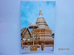 Postcard Chedee Of Wat Phrathat On Mountain Doi Suthep Chengmai North Thailand My Ref B1146 - Thailand