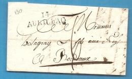Cantal - Aurillac Pour Holagray à Bordeaux (Gironde). LAC De 1825 - Marcophilie (Lettres)