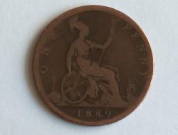 UK 1 PENNY 1889 ONE GRANDE BRETAGNE - 1816-1901 : Frappes XIX° S.