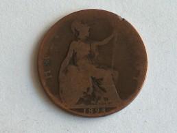 UK 1/2 PENNY 1898 HALF GRANDE BRETAGNE - 1816-1901 : Frappes XIX° S.
