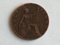 UK 1/2 PENNY 1900 HALF GRANDE BRETAGNE - 1816-1901 : Frappes XIX° S.