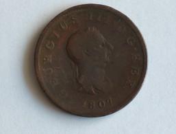 UK PENNY OU HALF PENNY 1807 GRANDE BRETAGNE - 1662-1816 : Antiche Coniature Fine XVII° - Inizio XIX° S.