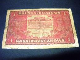 POLOGNE 1 Marka  23/08/1919 , Pick N°23 , POLSKA, POLAND - Polen