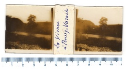 Glass Positive STEREOSCOPICA - La VIENNE à Bussy Varache - Lastra In Vetro - Diapositiva Su Vetro