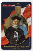 MALTE 40U MALTACOM Philippe Villiers De L'Isle Adam - Malte