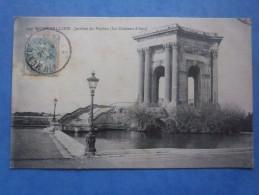 34-MONTPELLIER Le Chateau D´eau , Circulée En 1906,  2scans - Châteaux D'eau & éoliennes