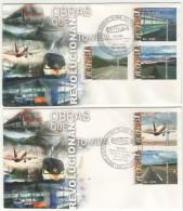 5 FDC VENEZUELA- 2006-SCOTT* 1673 ( OBRAS QUE REVOLUCIONAN TU VIDA) NUEVOS - Venezuela