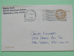 USA 1982 Stationery Card Cleveland To New York N.Y. - Robert Morris - Stati Uniti