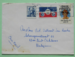 USA 1986 Cover Santa Ana To Holland - Washington - Plane - Special Olympics - Etats-Unis