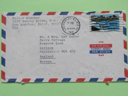 USA 1986 Cover Los Angeles To England - Plane - Etats-Unis