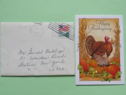 USA 1989 Cover With Greeting Card Cincinnati To Scotia N.Y. - Flag - Stati Uniti