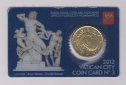 Coin Vatican City - Vaticaan - Vaticano 0.50 Euro 2012 UNC Coin Card Nr. 3 Pope Benedictus - Laoconte - Vaticaanstad