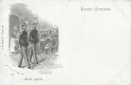 Saint-Cyr - Saint-Cyriens - Sortie Galette, Illustration Signée - Carte A.W. Précurseur Non Circulée - Regiments