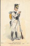 Uniforme D'Infanterie - Légions Départementales 1816 - Illustration Maurice Toussaint Carte, Série 1, N° 9 Non Circulée - Uniformes