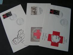 Saar 1955  3  Briefe Red Cross Rotes Kreuz - Briefe U. Dokumente