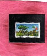 ITALIA REPUBBLICA ITALY REPUBLIC 1984 EXPO ESPOSIZIONE MONDIALE DI FILATELIA 85 LIRE 550 USATO USED OBLITERE´ - 6. 1946-.. Republic
