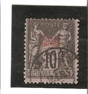 TIMBRES DE FRANCE DE 1876 - 98  Surchargé   Rouge  N°4  Oblitéré - Gebraucht