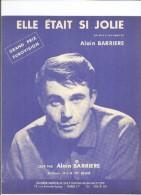 PARTITION ALAIN BARRIÈRE ELLE ÉTAIT SI JOLIE GRAND PRIX EUROVISION 1963 PIANO GUITARE ACCORDÉON - Musique & Instruments