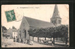 CPA Crespières, L'église - Non Classificati