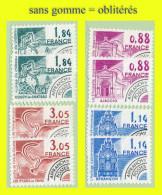 PRÉOBLITÉRÉS N° 170 À 173 - MONUMENTS HISTORIQUES 1981 - EN 2 EX. NEUFS SANS GOMME = OBLITÉRÉS - - 1964-1988
