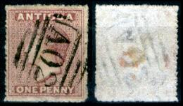 Antigua-009 - 1863-67 - Yvert & Tellier N. 2 (o) Obliterated - Privo Di Difetti Occulti. - Antigua E Barbuda (1981-...)