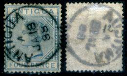 Antigua-012 - 1882 - Yvert & Tellier N. 12 (o) Obliterated - Privo Di Difetti Occulti. - Antigua E Barbuda (1981-...)