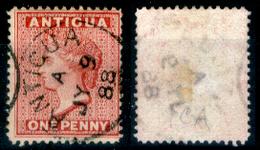 Antigua-013 - 1884-88 - Yvert & Tellier N. 14 (o) Obliterated - Privo Di Difetti Occulti. - Antigua E Barbuda (1981-...)